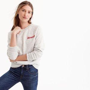 Jcrew Women's Amour Sweatshirt Top Sweater